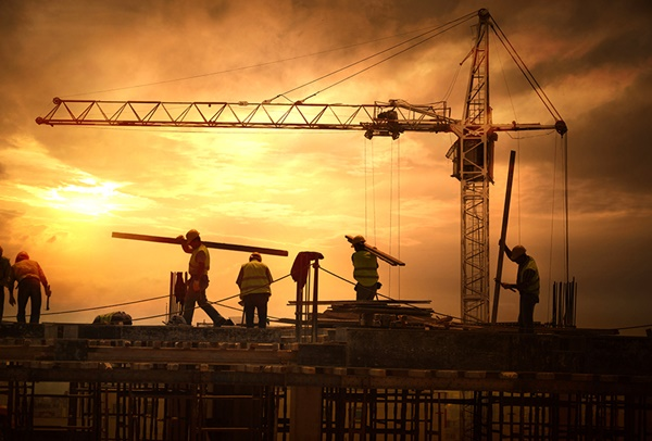 39634473 - construction site at sunset