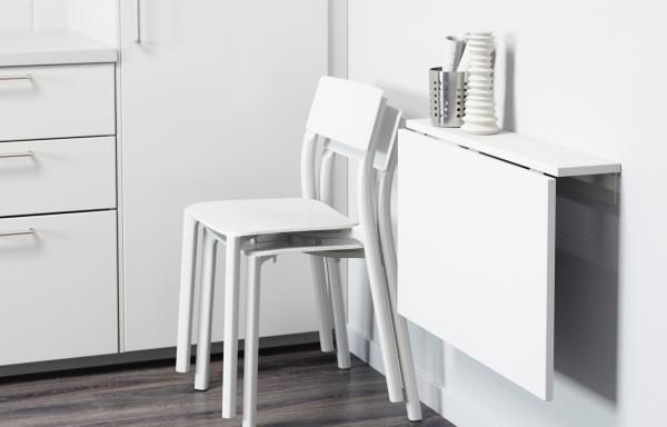 norberg mesa plegable de pared blanco 74 x 60 cm ikea Mesa Plegable Cocina 103437