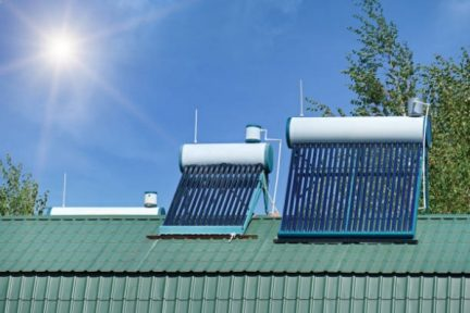 Solar water heater for home.