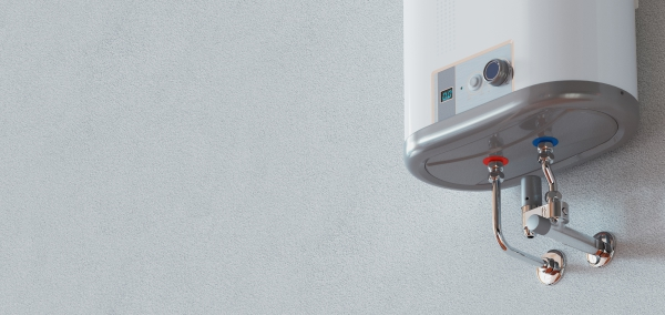 House heating concept - modern home gas fired boiler - energy and cash savings, 3d rendering
