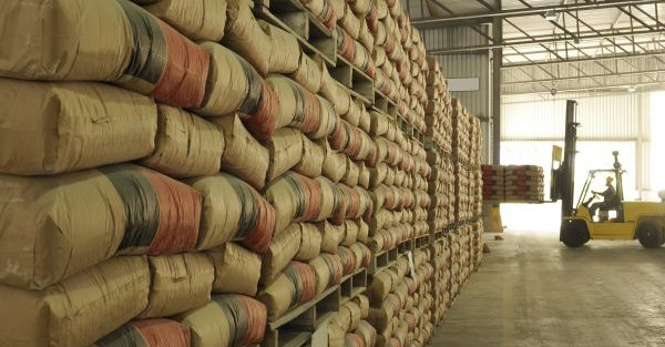 warehouse, sacks and pallet